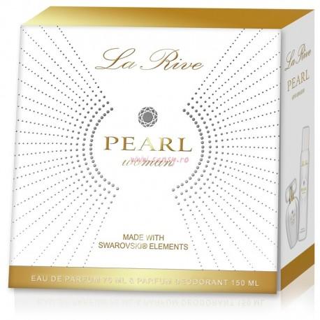 Set La Rive Pearl apa de parfum + deo